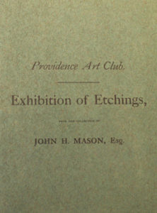 1884, December 10-20, Exhibition of Etchings from the Collection of John H. Mason