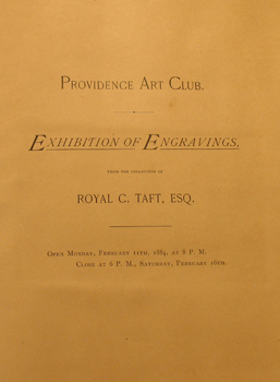 THUMBNAIL - 1884, February 11-16, Exhibition of Engravings (Royal C. Taft Collection)