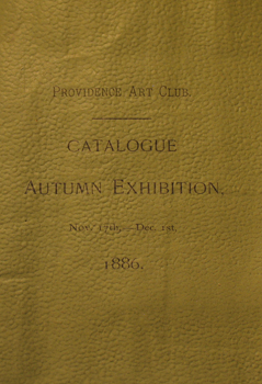 THUMBNAIL 1886, November 17-December 1, Catalogue Autumn Exhibition