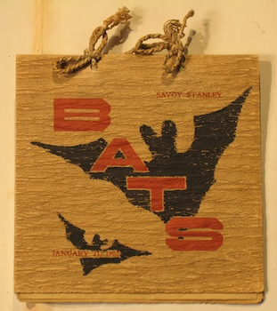 Order of the Bats Menu, January 21, 1902