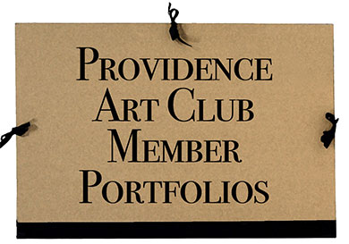 Picture of a portfolio with Providence Art Club Member Portfolios written on it